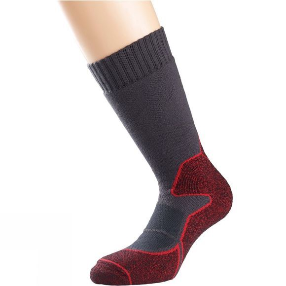 1000 Mile Womens Heat Walk Sock Charcoal/Red