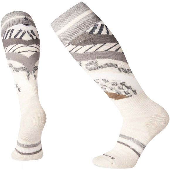 SmartWool Womens PHD Ski Light Pattern Socks Moonbeam