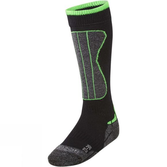 Horizon Kid's Wintersports Merino Sock BLACK/ACID LIME