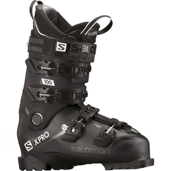 Salomon Mens X Pro 100 Ski Boot Black/Metablack/White