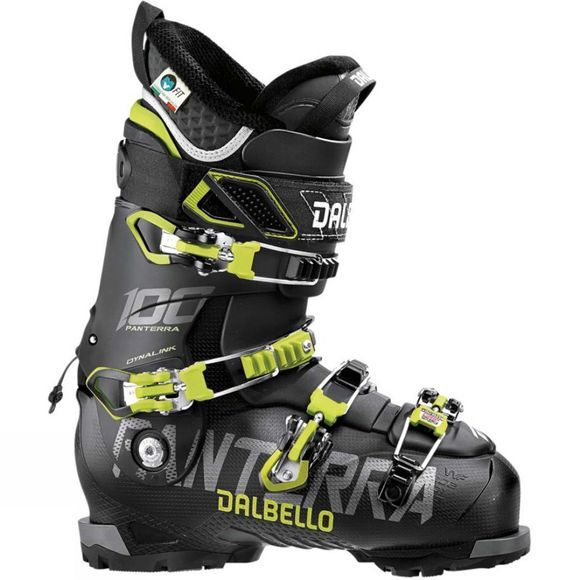 Dalbello Mens Panterra 100 Ski Boots Black / Acid Yellow