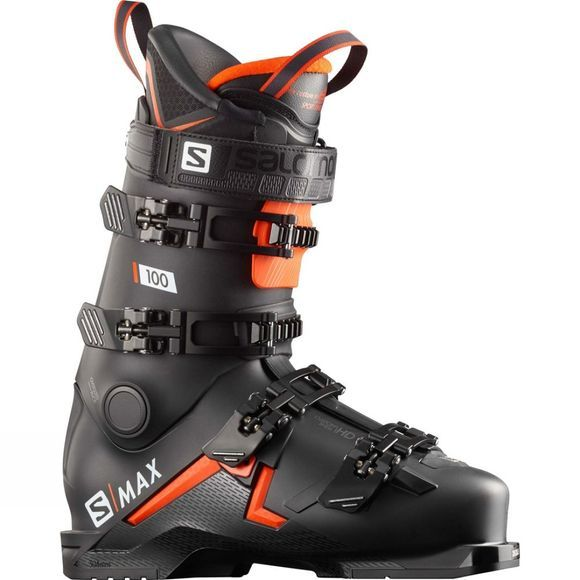 Salomon Mens S/Max 100 Ski Boots Black / Orange / White
