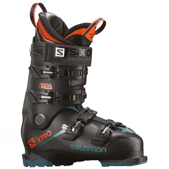 Salomon Mens X Pro 120 Ski Boots Black / Maroccan Blue / Orange