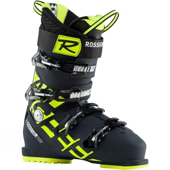 Rossignol Men's Allspeed 100 Ski Boot Dark Blue Yellow