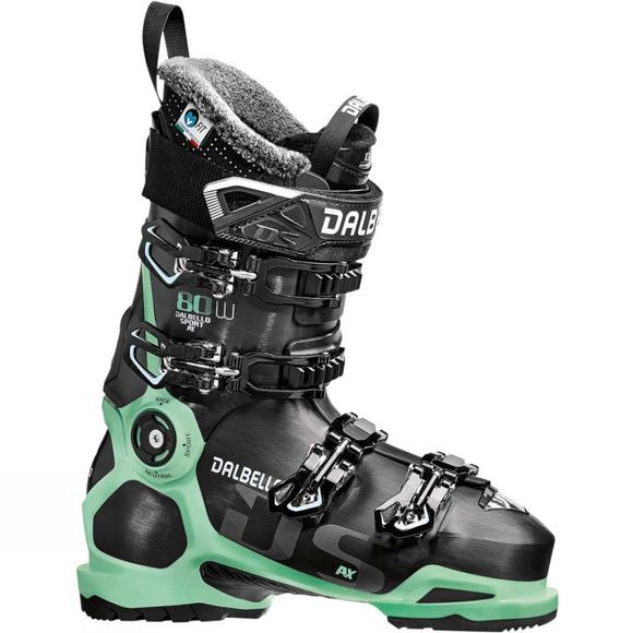 Dalbello Womens DS AX 80 Ski Boots Black / Glacier Blue