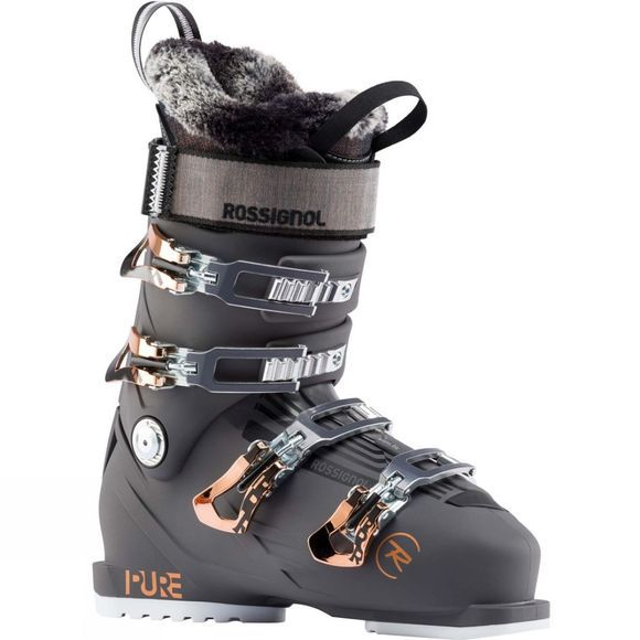 Rossignol Womens Pure Pro 100 Ski Boot Graphite / Rose Gold