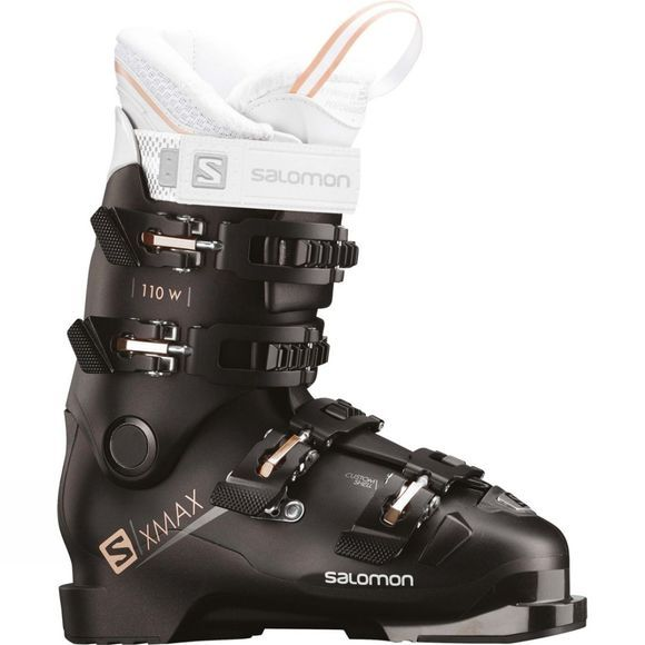 Salomon Womens X Max 110 W Ski Boots Black / Metallic Black / Corail