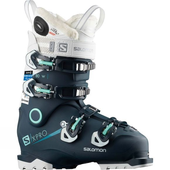 Salomon Womens X Pro 80W Custom Heat Connect Boot Petrol Blue / White / Aruba Blue