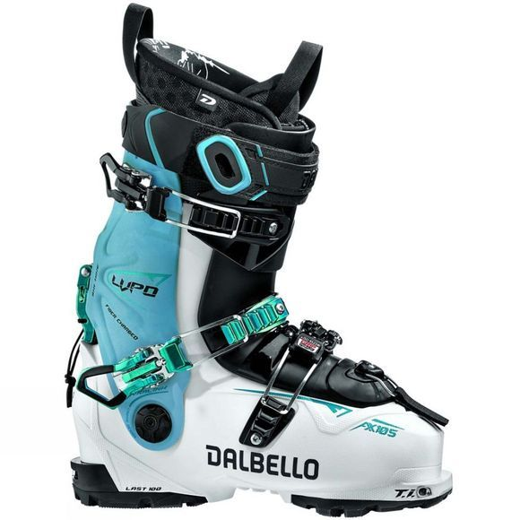 Dalbello Women's Lupo AX 105 W Ski Boot White / Blue Cyan