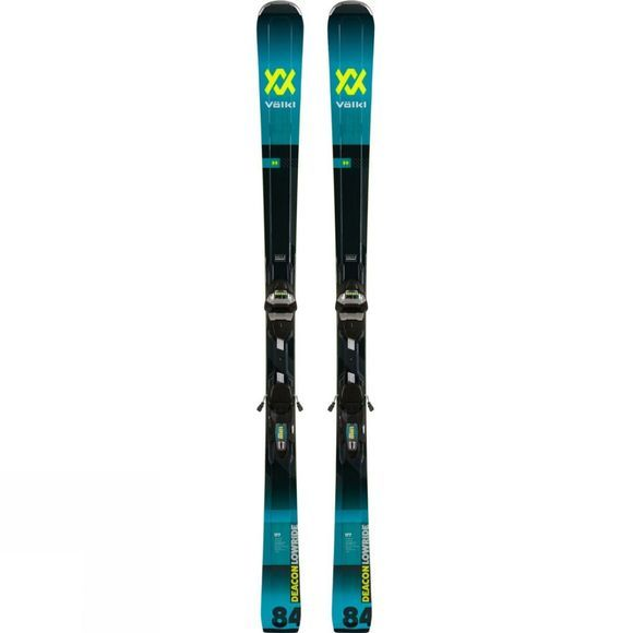 Volkl Men's Deacon 84 Skis With LowRide XL Binding Teal/Black