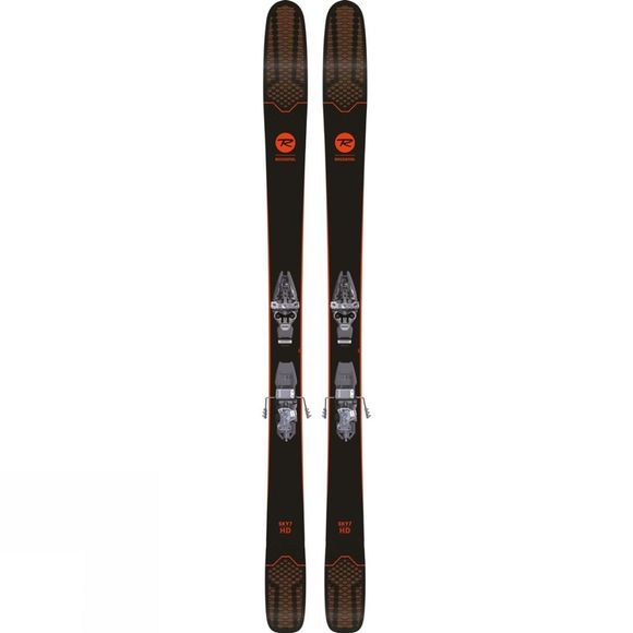 Rossignol Womens Sky 7 HD Skis (Ski Only) Black / Mid Pink