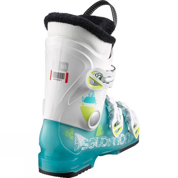 Salomon Kids T3 Junior Ski Boots Girly Green Tra/Wh/Acid