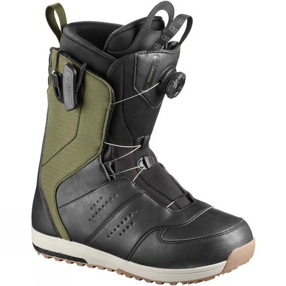 Salomon Mens Launch Boa Snowboard Boots Olive / Night