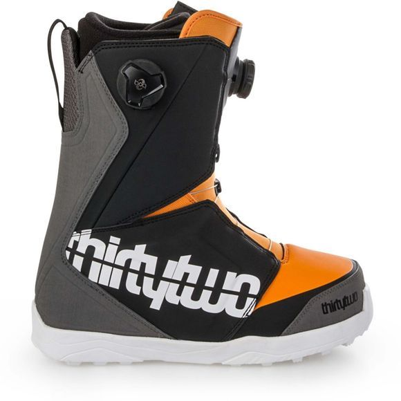 Thirty Two Mens Lashed Double Boa Snowboard Boots Grey / Black / Orange