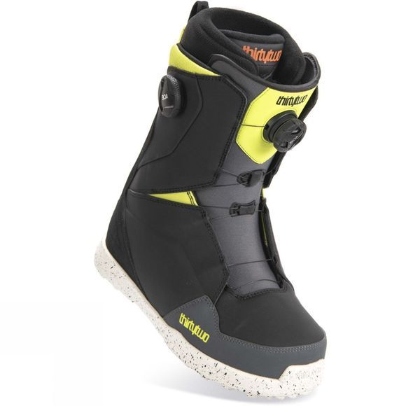 Thirty Two Mens Lashed Double Boa Snowboard Boot Black / Lime Punch / Dark Shadow