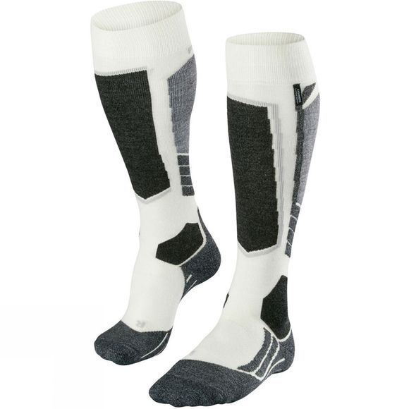 Falke Women's SK 2 Cashmere Ski Sock White          /Patterned