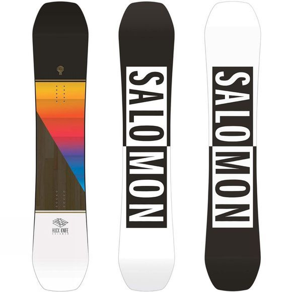 Salomon Mens Huck Knife Snowboard Black / Multi