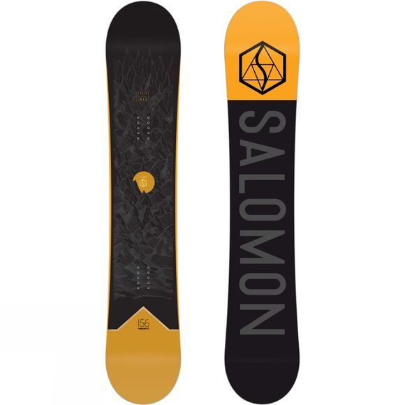 Salomon Mens Sight Snowboard Black / Yellow