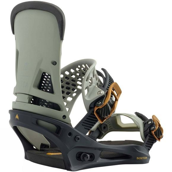 Burton Mens Malavita Snowboard Bindings Black/Gray
