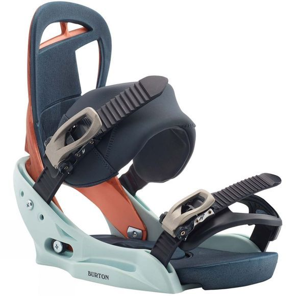Burton Womens Scribe EST Snowboard Bindings WOOD GRAIN JANE