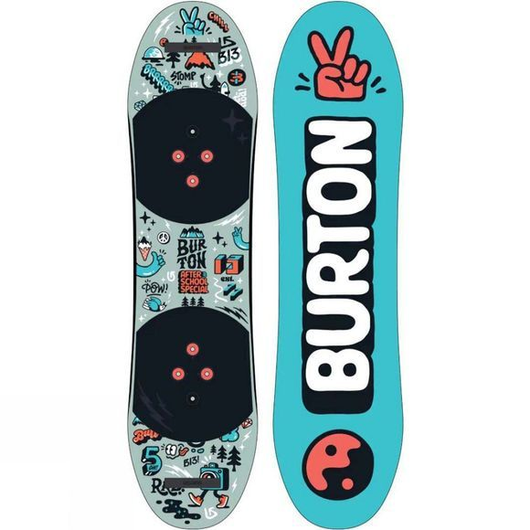 Burton Kids' After School Special Snowboard Package Blue / Multi