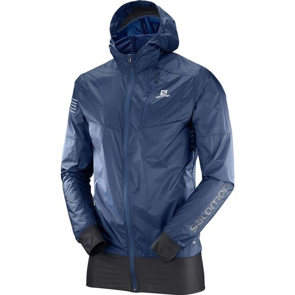 Salomon Mens Fast Wing Hybrid Jacket Dress Blue/Black