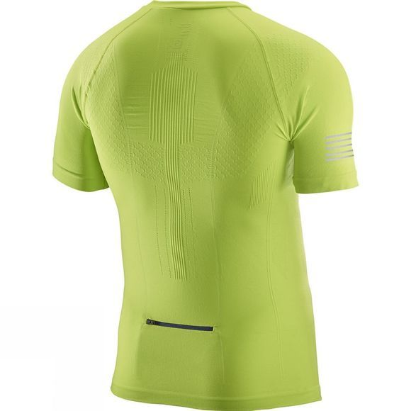 Salomon Mens Exo Motion HZ Short Sleeve Tee Lime Punch