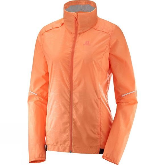 Salomon Womens Agile Wind Jacket Bird Of Paradise