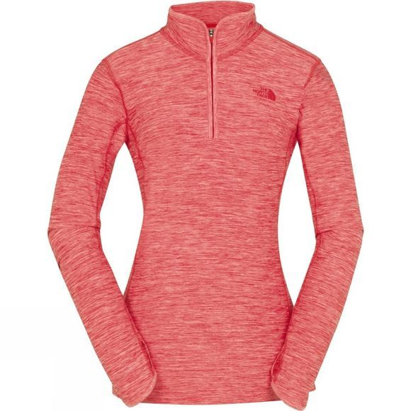 The North Face Women's Motivation 1/4 Zip Top Melon Red Heather