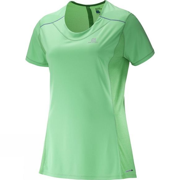 Salomon Women's Agile Short Sleeve Tee Jasmine Green