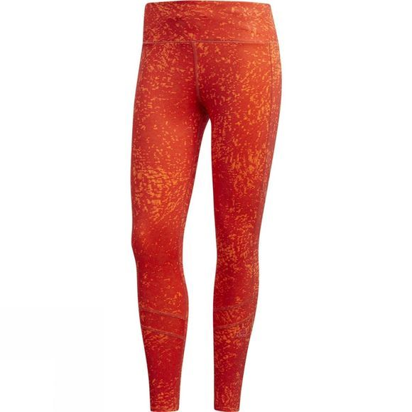 Adidas Womens How We Do 7/8 Printed Tights Real Coral