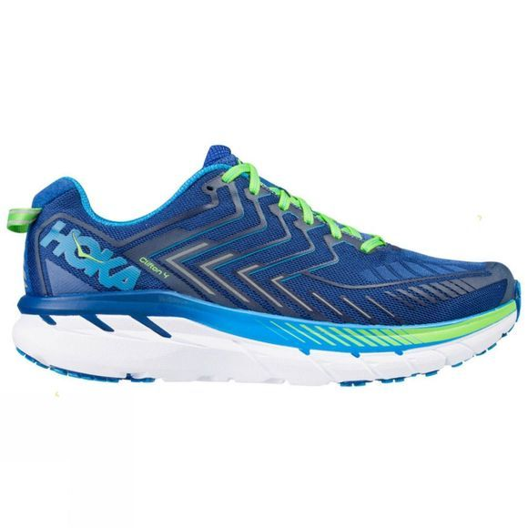Hoka One One Mens Clifton 4 Wide True Blue/Jasmine Green