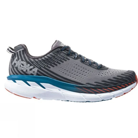 Hoka One One Mens Clifton 5 (Wide) Frost Gray/Ebony