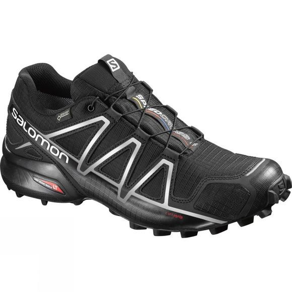 Salomon Men's Speedcross 4 GTX  Black/Black/Silver Metalic-X
