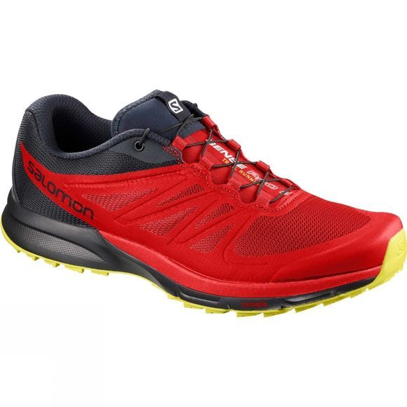 Salomon Mens Sense Pro 2 Shoe Fiery Red/Night Sky/Sulphur Spring