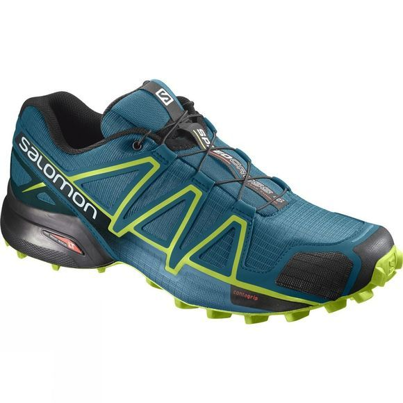 Salomon Men Speedcross 4 Shoe Deep Lagoon/Acid Lime/Reflecting Pond