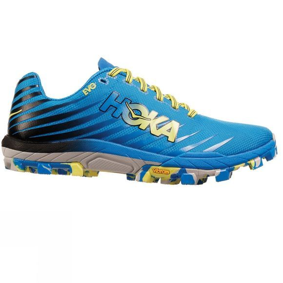Hoka One One Mens EVO Jawz Shoe Cyan / Citrus