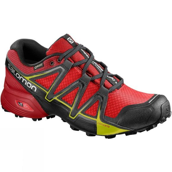 Salomon Mens Speedcross Vario 2 Gtx Shoe Fiery Red/Barbados Cherry/Magnet