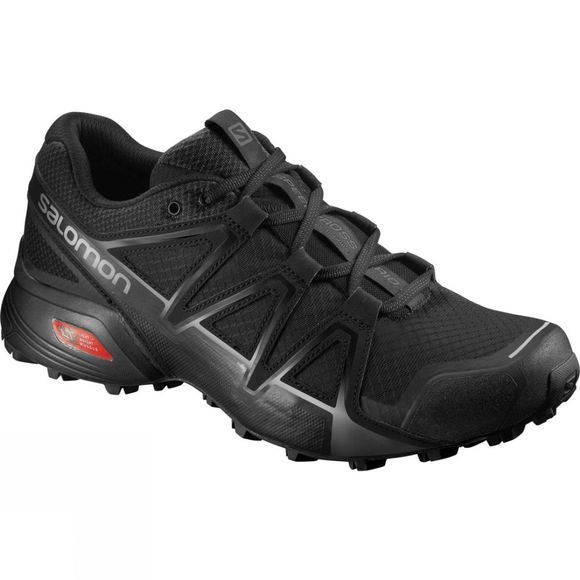 Salomon Mens Speedcross Vario 2 Shoe Black/Black/Silver Metallic-X