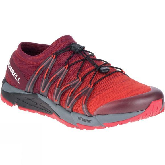 Merrell Mens Bare Access Flex Knit Shoe Red