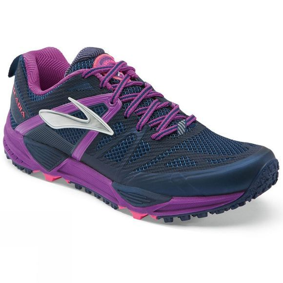 Brooks Womens Cascadia 10 Black/Purple