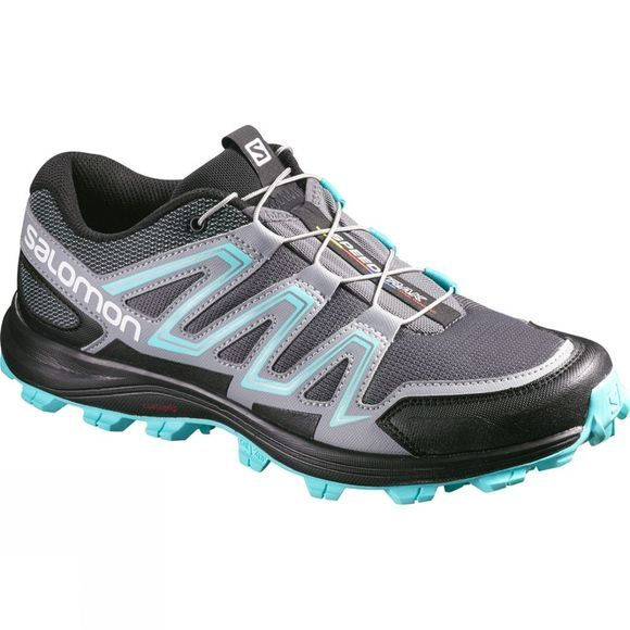 Salomon Women's Speedtrak Dark Cloud/Light Onix/Bubble Blue