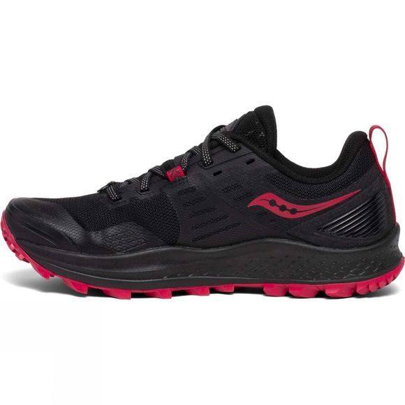Saucony Womens Peregrine 10 Shoe BLACK/BARBERRY