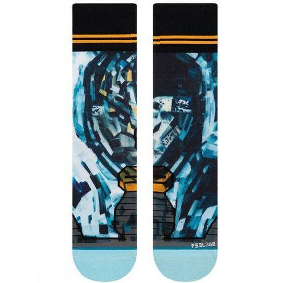 Stance Mens Kagan Moon Man Crew Socks Black Blue Sports Outdoors Breathable