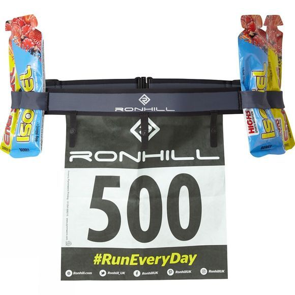 Ronhill Race Number Belt Charcoal/Black
