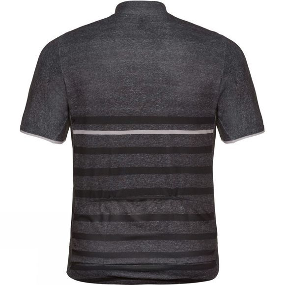 Odlo Element Print Short-Sleeve Cycling Jersey Odlo Graphite Grey Melange - Retro
