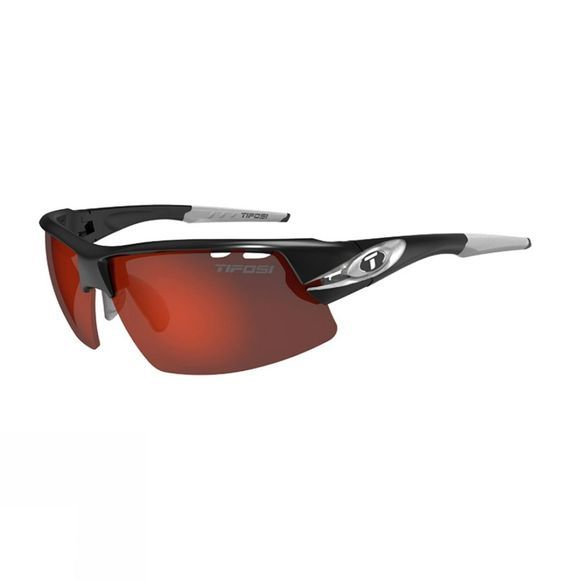 Tifosi Crit Race Silver Clarion Red: Race Silver Sunglasses Silver / clarion lenses