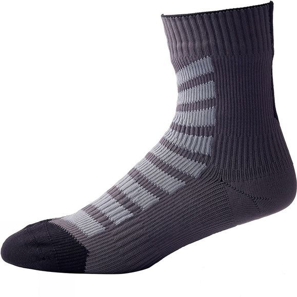 SealSkinz MTB Ankle Socks with Hydrostop Anthracite/Charcoal/Black