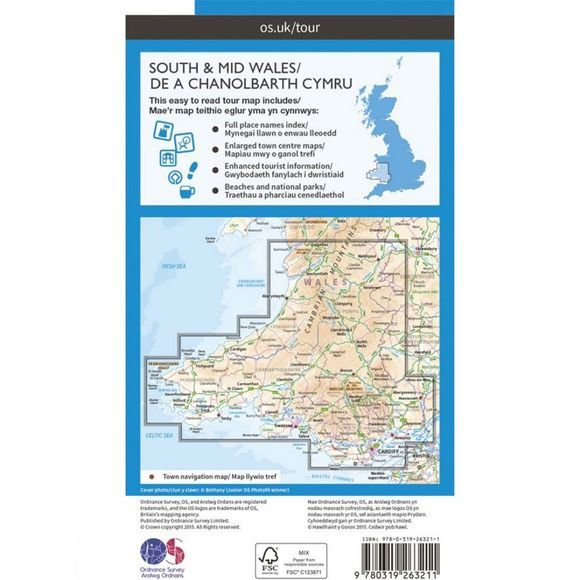 Wales South & Mid Tour Map