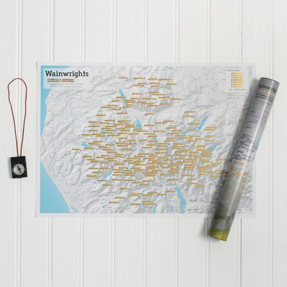 ITMB Wainwright Summits Collect & Scratch Map 1st, May 2017